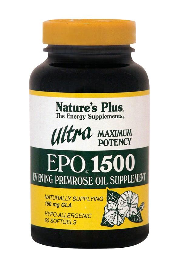 Nature's Plus, Ultra Epo 1500 mg, 60 softgels