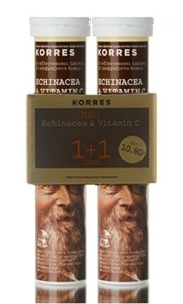 Korres Echinacea & Vitamin C Συμπλήρωμα με Εχινάκεα & Βιταμίνη C (1+1 ΔΩΡΟ), 2 x 20 αναβράζοντα δισκία