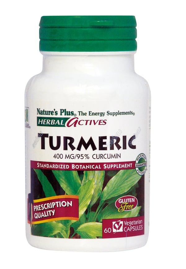 Nature's Plus Turmeric 400mg Αντιοξειδωτικό Συμπλήρωμα από Κουρκουμά, 60 vcaps
