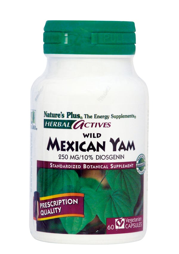Nature's Plus, Wild Mexican Yam 250 mg, 60 vcaps