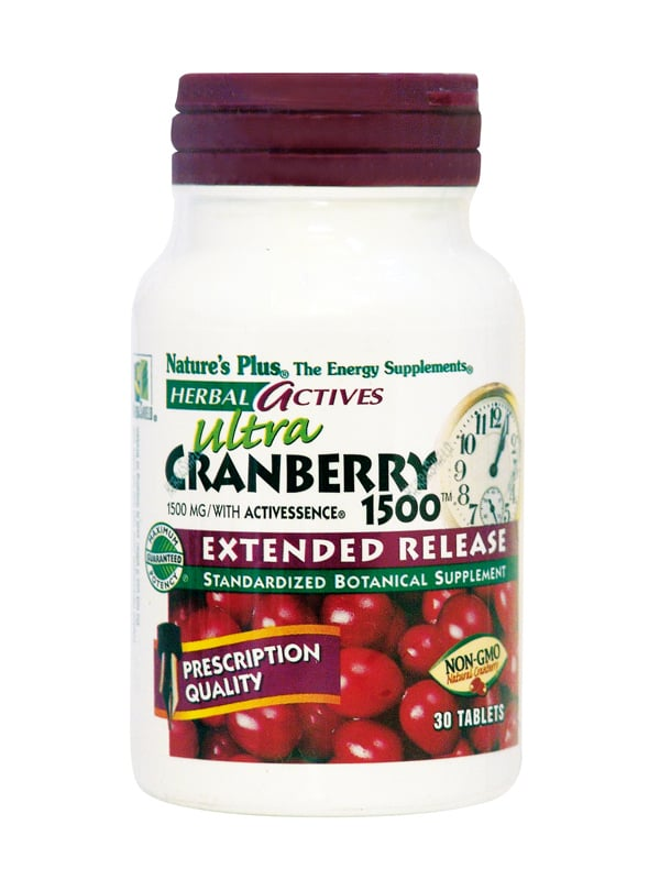 Nature's Plus, Ext Rel Cranberry 1500 mg, 30 tabs