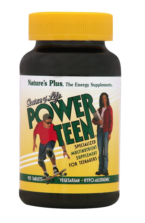Nature's Plus Power Teen Ειδικό Πολυβιταμινούχο Συμπλήρωμα Διατροφής Ειδικά Σχεδιασμένο για τις Ιδιαίτερες Ανάγκες των Εφήβων, 90 tabs