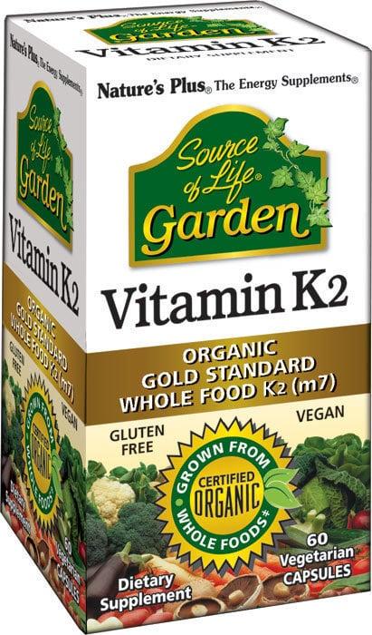 Nature's Plus Garden Vitamin K2 120 mcg Βιταμίνη K, 60 vcaps