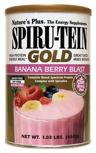 Nature's Plus, SpiruTein Gold Banana Berry Blast, 468 gr