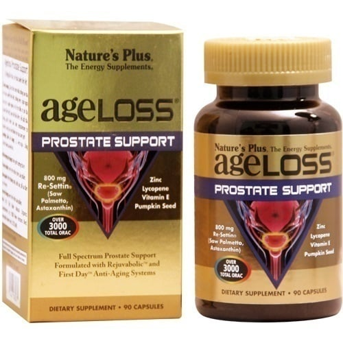 Nature's Plus AgeLoss Prostate Support Φόρμουλα για την υγεία του Προστάτη, 90 caps