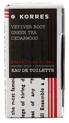 Korres Eau de Toilette Vetiver Root / Green Tea / Cedarwood Άρωμα για Άνδρες, 50ml