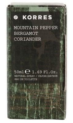 Korres Άρωμα για Άνδρες με Mountain Pepper / Bergamot / Coriander, 50ml
