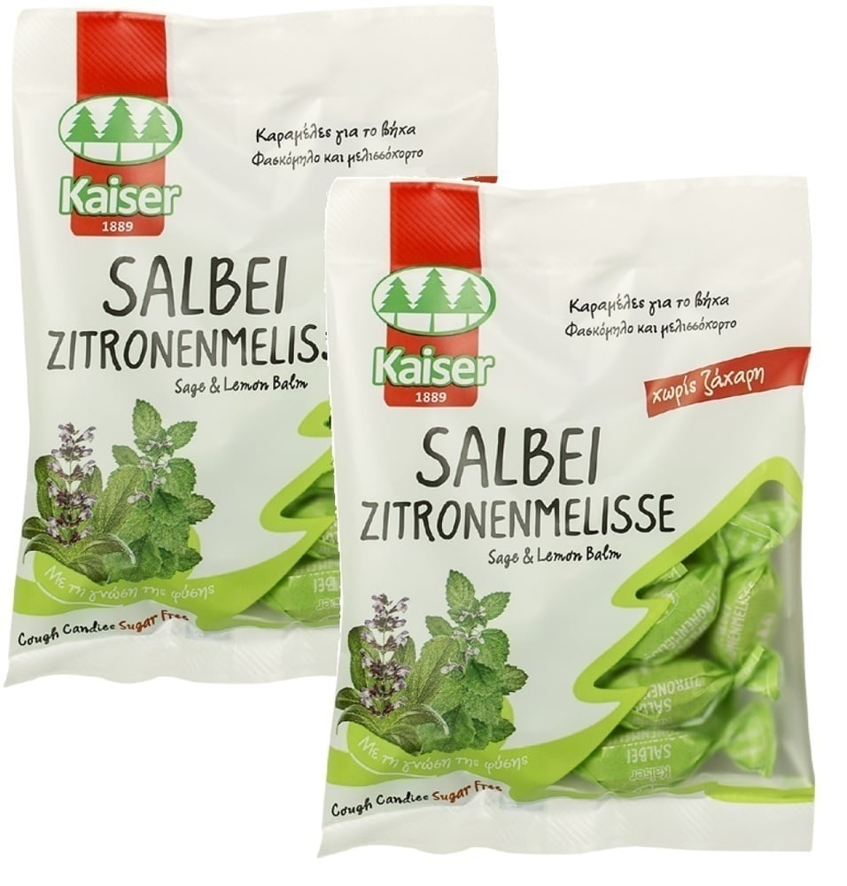 2x Kaiser - Salbei,with sage and lemon balm ( 1 + 1 free) , 2x 75 gr