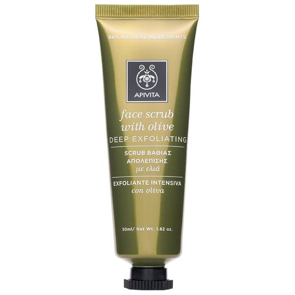 Apivita Face Scrub with Olive, Κρέμα Απολέπισης Προσώπου με Ελιά, 50 ml