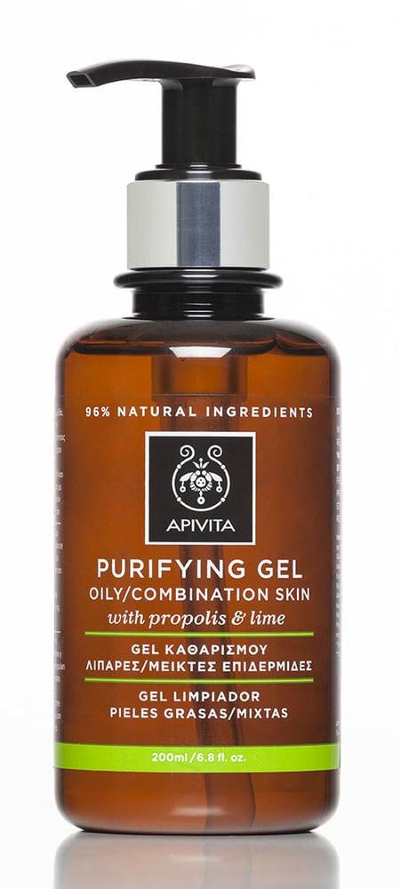 Apivita Purifying Gel Propolis & Lime, Gel Καθαρισμού για Λιπαρές - Μεικτές Επιδερμίδες, με πρόπολη & κίτρο, 200ml