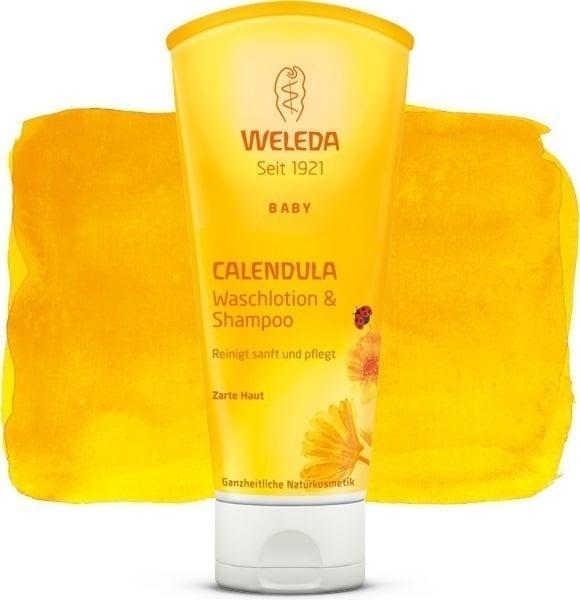 Weleda Βρεφικό Σαμπουάν & Αφρόλουτρο Καλέντουλας, Καθαρίζει Μαλλιά & την Ευαίσθητη Βρεφική Επιδερμίδα, 200ml