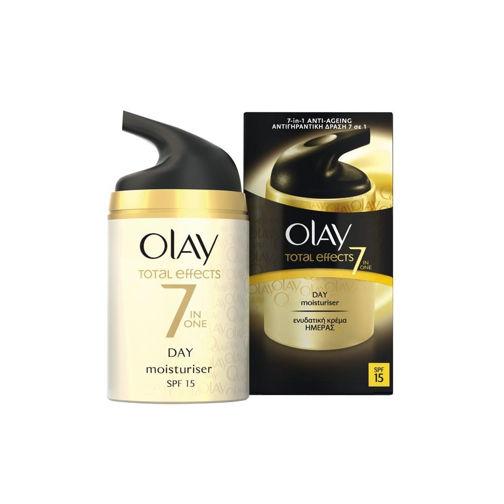 Olay Total Effects 7 Moisturizer SPF15 Αντιγηραντική Κρέμα Προσώπου, 50ml