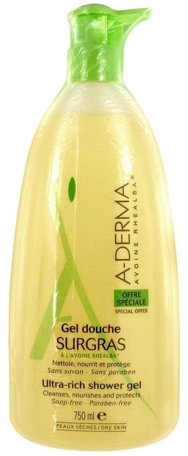A-Derma Gel Douche Surgras, 750ml