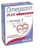 Health Aid Omegazon PLUS Ω3 & Co Q10, 30 caps