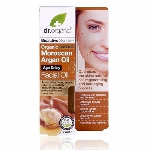 Dr. Organic Moroccan Argan Oil Facial Oil, 30 ml