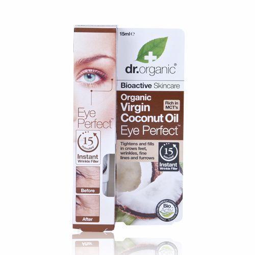 Dr. Organic Virgin Coconut Oil Eye Perfect, 15 ml