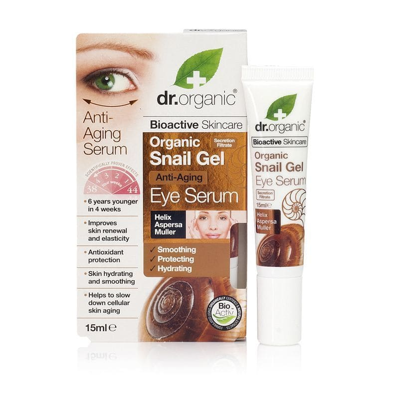 Dr. Organic Snail Gel Eye Serum, 15 ml