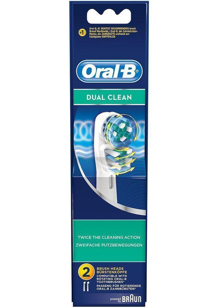 OralB Dual Clean Ανταλλακτικά Βουρτσάκια, 2 τμχ