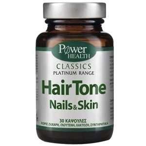 Power Health Classics Platinum Hair Tone Nails & Skin, 30 caps