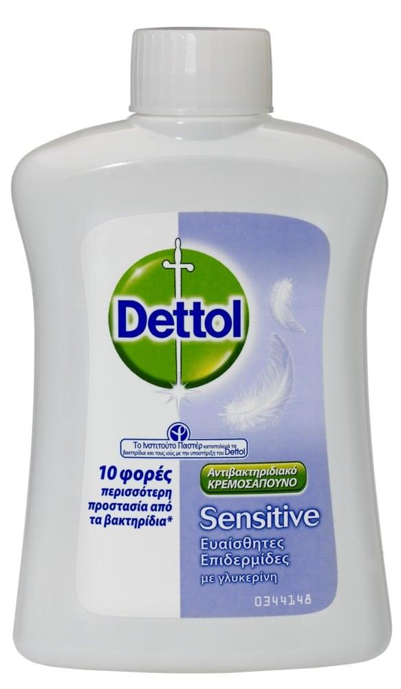 DETTOL Liquid Soap Sensitive, Ανταλλακτικό Αντιβακτηριδιακό , 250 ml