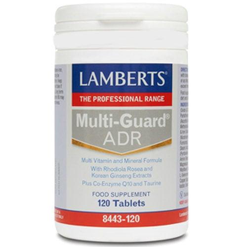 Lamberts Multi Guard ADR Πολυφόρμουλα Ενέργειας & Τόνωσης με Rhodiola ,Korean Ginseng ,Q10 & Ταυρίνη ,120tabs
