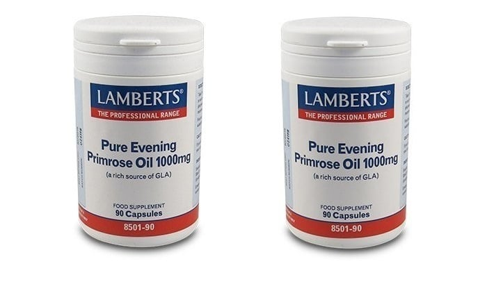 2x LAMBERTS PURE EVENING PRIMROSE OIL 1000MG, 2x 90 caps