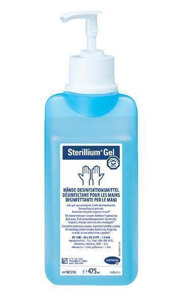 Sterillium Gel Αντισηπτικό Χεριών με αντλία, 475 ml
