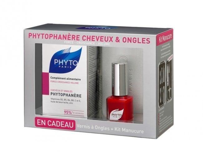 Phyto Phytophanere Συμπλήρωμα Διατροφής για την Καλή Υγεία των Μαλλιών, 120 caps & ΔΩΡΟ Κόκκινο Βερνίκι Νυχιών, 11 ml