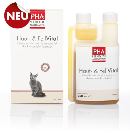 PHA Skin Vital Συμπλήρωμα Διατροφής για Υγιές Δέρμα & Τρίχωμα της Γάτας, 250 ml