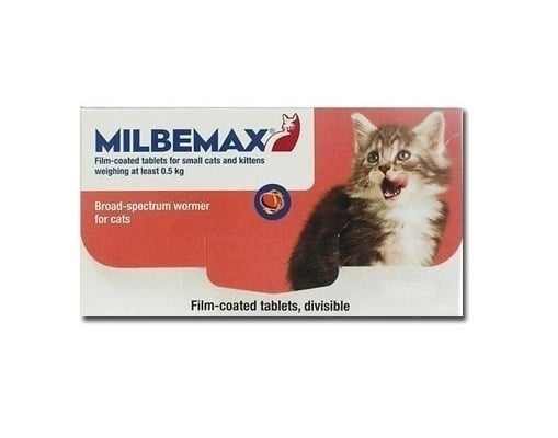 Premier Shukuroglou Milbemax Small Cat Συμπλήρωμα Διατροφής για Μικρές Γάτες, για τη Θεραπεία των Μικτών Μολύνσεων από ενήλικα Κεστώδη & Νηματώδη, 20 tabs
