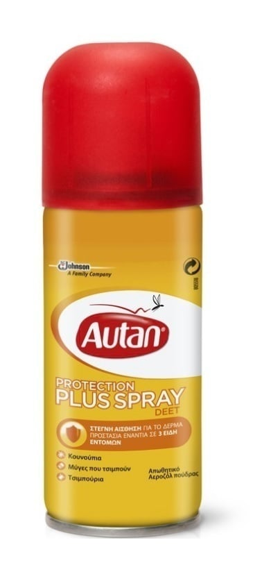 Autan Protection Plus Spray Απωθητικό Σπρέι για Κουνούπια, Μύγες & Τσιμπούρια, 100 ml