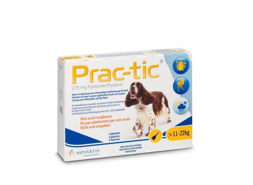 Premier Shukuroglou Prac-Tic Διάλυμα για τη Θεραπεία & την Πρόληψη των Παρασιτώσεων από Ψύλλους & Κρότωνες, για Σκύλους από 11 - 22 kg, 3 πιπέτες x 2,2 ml