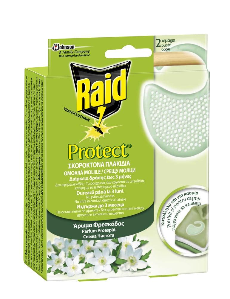 Raid Protect Σκοροκτόνα Πλακίδια, 2 τμχ
