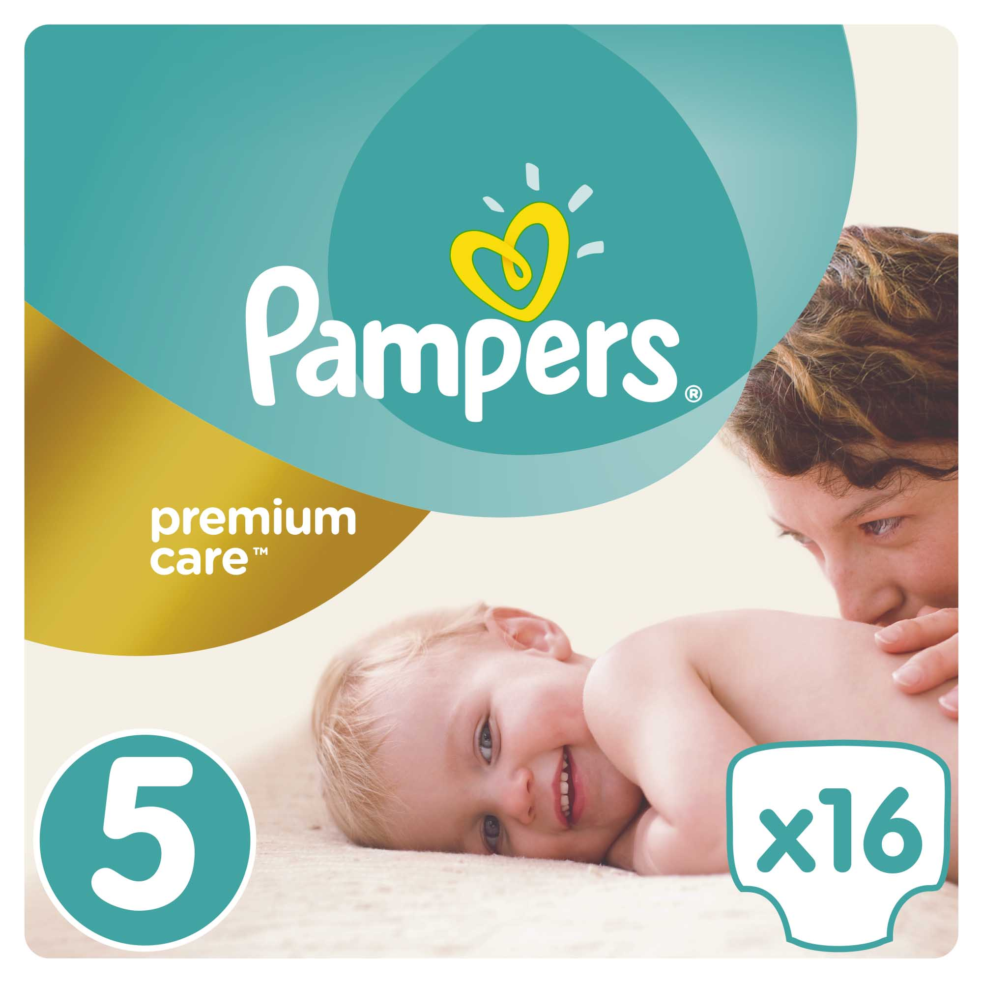 Pampers Premium Care Carry Pack No.5 Junior (11-18 kg) Βρεφικές Πάνες, 16 τεμάχια