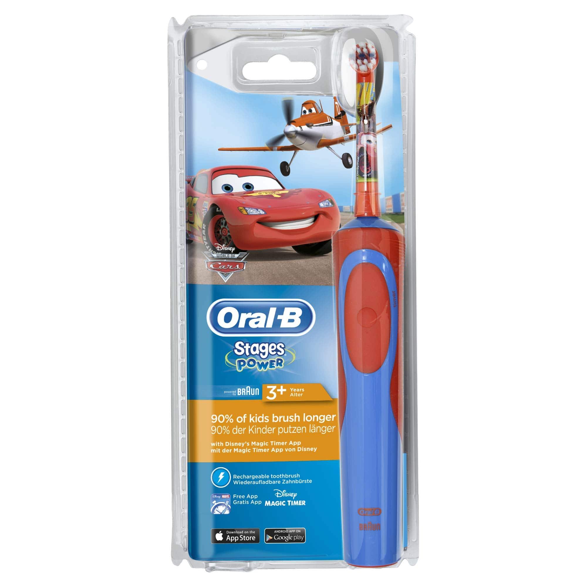 OralB Vitality Kids Stages Power Cars Ηλεκτρική Οδοντόβουρτσα για Αγόρια 3+ ετών, 1 τεμάχιο