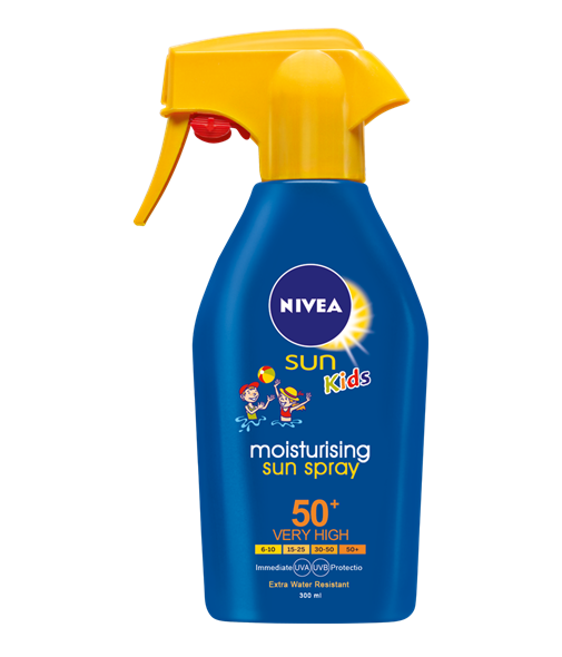 Nivea Sun Κids Protect & Moisture Trigger Spray SPF50+ Αντιηλιακό Σπρέι για Παιδιά, 300ml