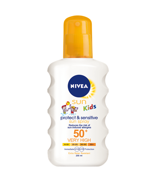 Nivea Sun Kids Pure & Sensitive SPF50+ Αντιηλιακό Σπρέι για Παιδιά, 200ml