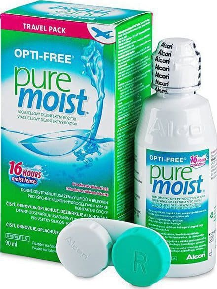 Alcon Opti free Pure Moist Travel Pack Υγρό Φακών Επαφής, 90ml