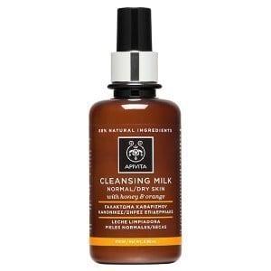 Apivita Cleansing Γαλάκτωμα Καθαρισμού με Μέλι & Πορτοκάλι, για Κανονικές/Ξηρές Επιδερμίδες, 200 ml