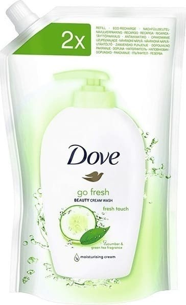 Dove Go Fresh Beauty Cream Hand Wash Cucumber & Green Tea ΠΡΟΣΦΟΡΑ -40% Ανταλλακτικό Υγρό Κρεμοσάπουνο, 500ml