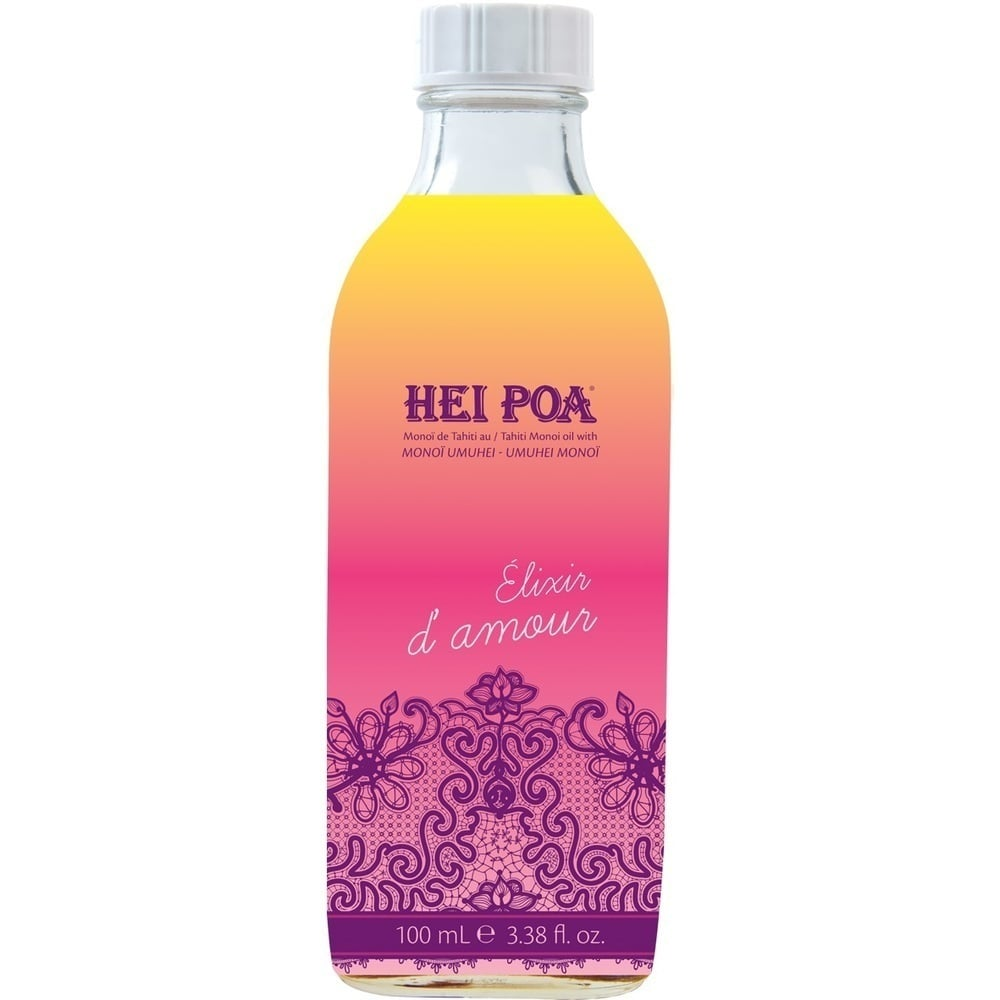 "HEI POA Monoi Oil Umhei \""Elixir of Love\"", Λάδι πολλαπλών χρήσεων με 7 Αφροδισιακά Φυτά από την Πολυνησία, 100 ml"