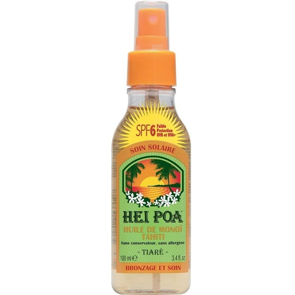 HEI POA Tahiti Monoi Oil SPF6 Tiare Spray, Λάδι Monoi με άρωμα Tiare για Προστασία από τον Ήλιο, 100 ml