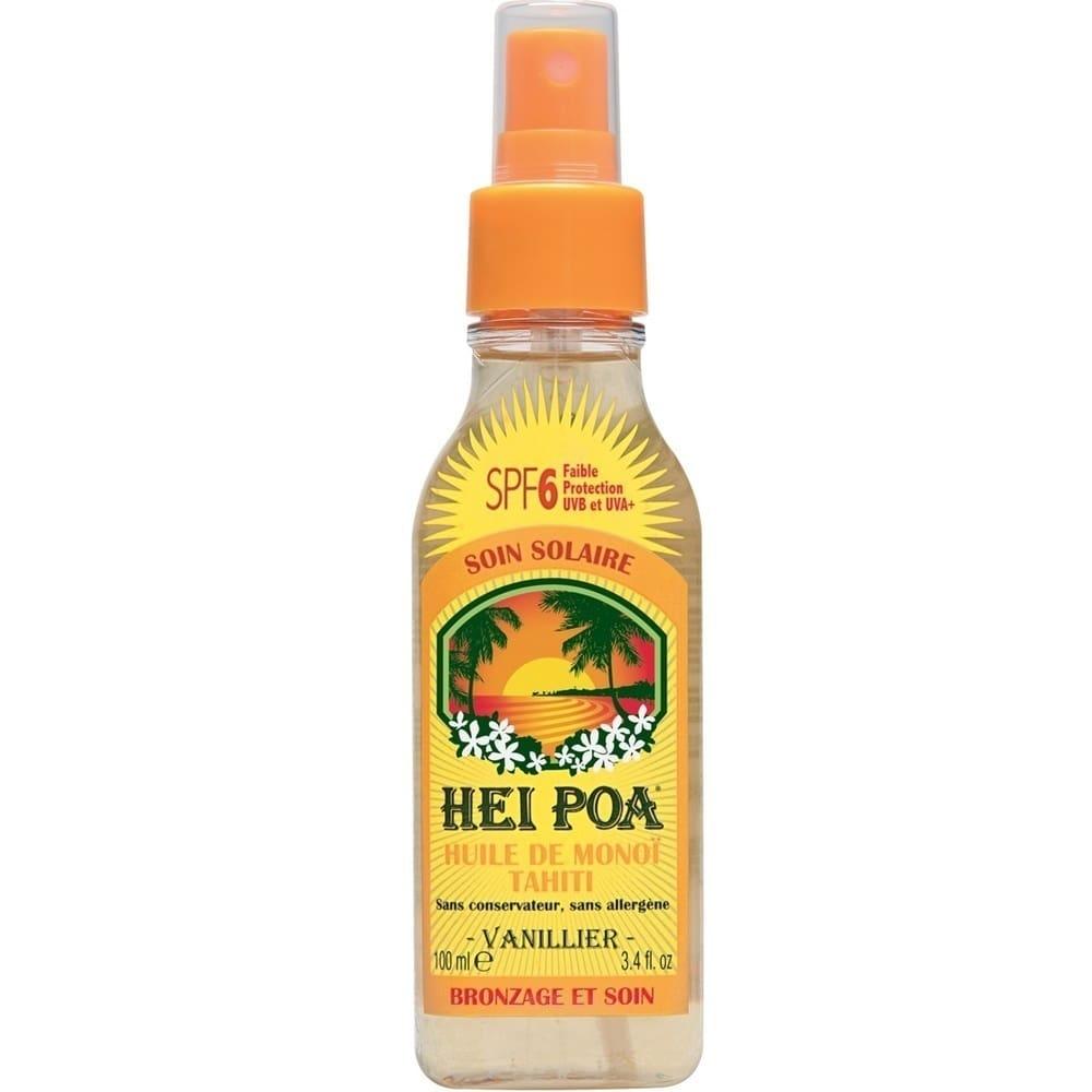 HEI POA Tahiti Monoi Oil SPF6 Vanilla Spray, Λάδι Monoi με άρωμα Βανίλια για Προστασία από τον Ήλιο, 100 ml