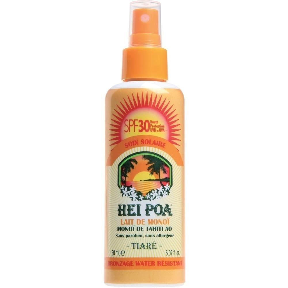 HEI POA Monoi Milk SPF30 Tiare Spray Ανάλαφρο Αδιάβροχο Αντηλιακό Γαλάκτωμα Monoi, με άρωμα Tiare, 150 ml