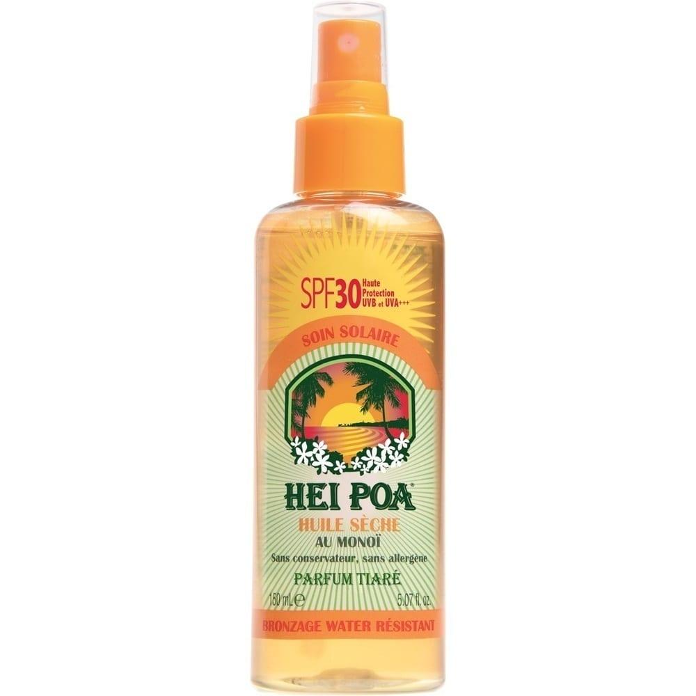 HEI POA Monoi Oil SPF30 Tiare Spray Ανάλαφρο Αδιάβροχο Αντηλιακό Ξηρό Λάδι Monoi, με άρωμα Tiare, 150 ml