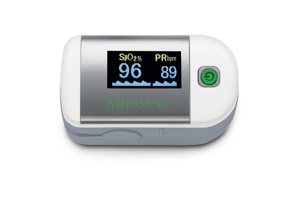 Medisana PM 100 Παλμικό οξύμετρο για τη μέτρηση του κορεσμού του οξυγόνου στο αίμα (SpO2%) και των καρδιακών παλμών