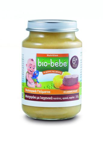 Bio Bebe Nutrition Βιολογική Βρεφική Τροφή Μοσχαράκι με Λαχανικά, Πατάτες, Αρακά, Καρότα, από τον 6ο μήνα, 200 gr