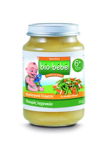 Bio Bebe Nutrition Βιολογική Βρεφική Τροφή Πουρές Λαχανικών, από τον 6ο μήνα, 200 gr