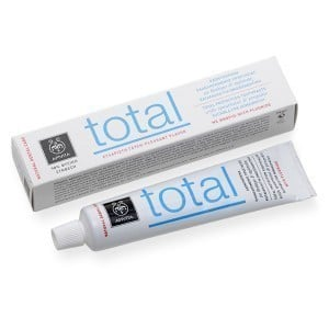 Apivita Natural Dental Care Total Οδοντόκρεμα για Ολοκληρωμένη Προστασία με Γεύση Δυόσμου & Πρόπολη, 75ml