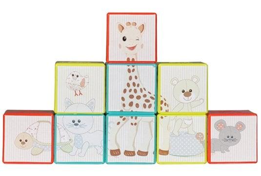 Sophie la Girafe Stackable Cubes Puzzle 230767 Κύβοι Παζλ, 9 κύβοι